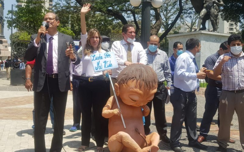 Grupo Pro-Vida realizan marchas contra el COS
