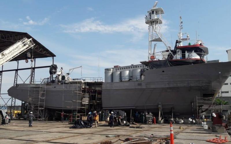 Luego de 31 años Astinave vuelve a efectuar el alargamiento de buques pesqueros