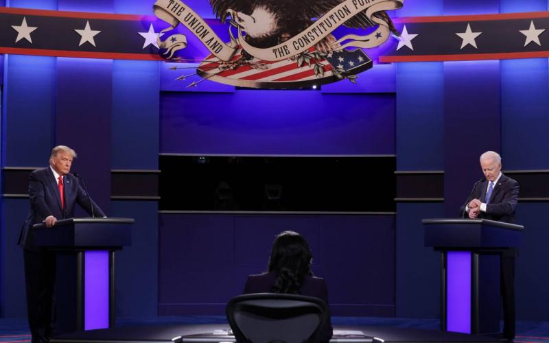 Donald Trump y Joe Biden: Ideas que dejó el último debate presidencial en Estados Unidos