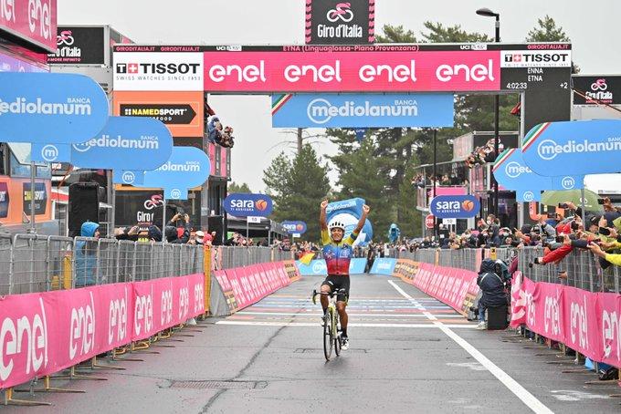 Jonathan Caicedo, Ganador de la Tercera Etapa en el Giro de Italia