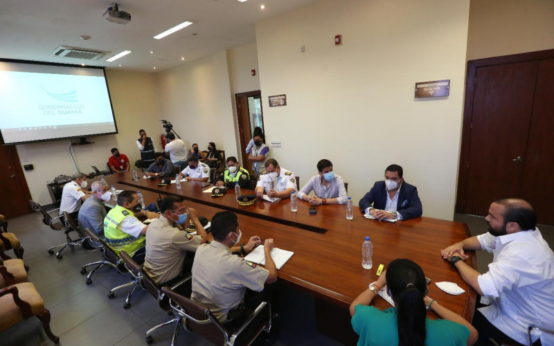 Gobernación  junto a entidades de seguridad luchan contra la delincuencia en el Guayas