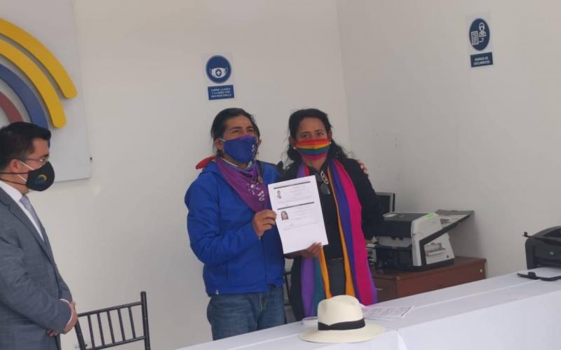 Binomio presidencial por Pachakutik, Yaku Peréz y Virna Cedeño