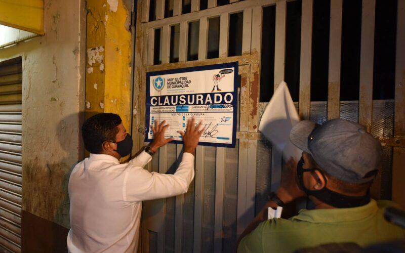 Guayaquil y Samborondón se clausuran locales por irrespeto de medidas