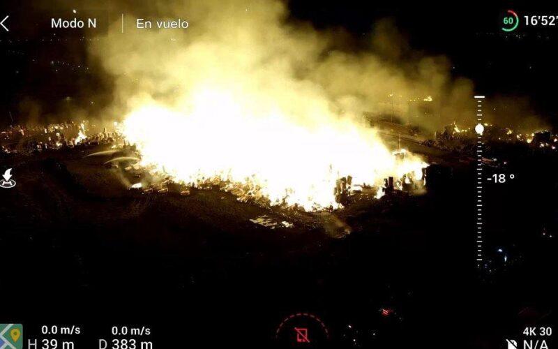 Incendio en las instalaciones de Procarsa, en Durán