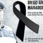 Muere el astro del fútbol mundial, Diego Armando Maradona.