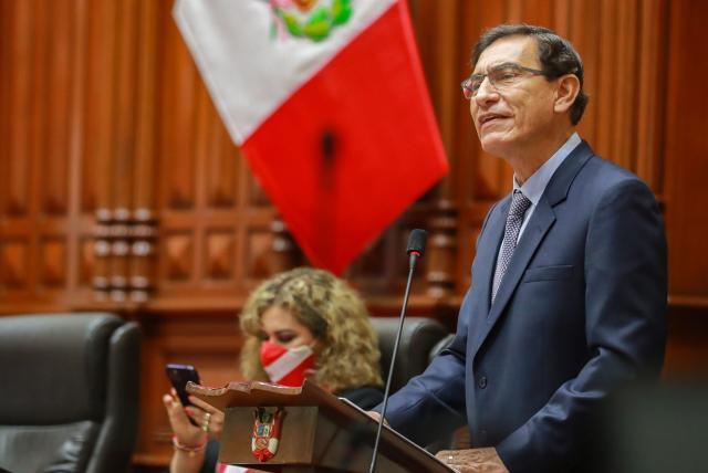 El Congreso Peruano, destituye al presidente Martin Vizcarra