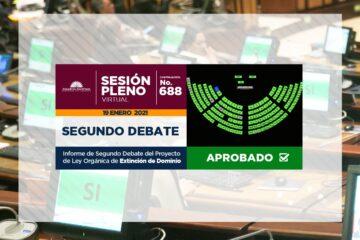 PLENO DE LA ASAMBLEA APRUEBA LEY DE EXTINCIÓN DE DOMINIO