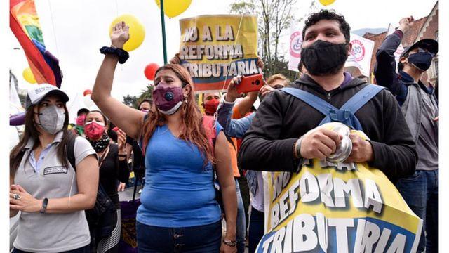LAS MARCHAS EN COLOMBIA NO DAN TREGUA PESE A QUE REFORMA TRIBUTARIA FUE ELIMINADA