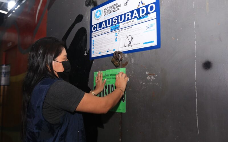 CLAUSURA DE 26 ESTABLECIMIENTOS DURANTE EL FIN DE SEMANA EN GUAYAQUIL