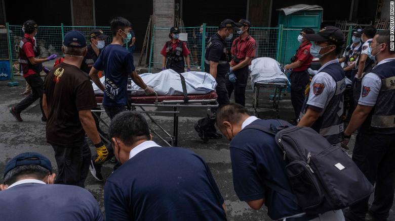 AL MENOS 46 PERSONAS MURIERON EN UN INCENDIO EN TAIWÁN